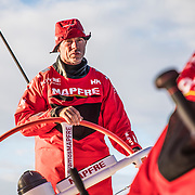 Leg 7 from Auckland to Itajai, day 02 on board MAPFRE, Rob Greenhalgh stearing. 19 March, 2018.