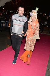 JAMES LONG and VIRGINIA BATES at a private view of Isabella Blow: Fashion Galore! held at Somerset House, London on 19th November 2013.