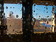 car wash from inside the car