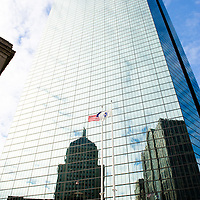 John Hancock Tower with reflection of the old John Hancock Building in the glass