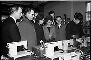 07/02/1964<br /> 02/07/1964<br /> 07 February 1964<br /> Tour of Brother International Factory at Santry, Co. Dublin. Included are Mr J. Quinn, Works Manager; Mr E. McGoveran, (Smarts); Miss J. McGarry (Queens Old Castle, Cork) and Mr and Mrs D.C. Sweeney, (Cork) in the assembly shop.