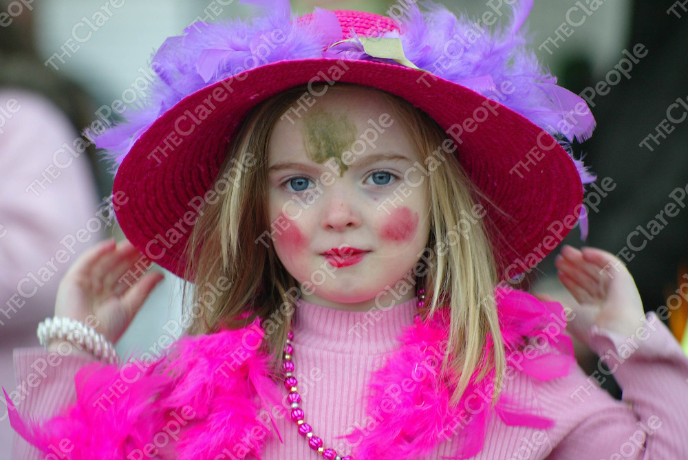 Ailbhe Merriman (age 5) pictured taking part in the St Patricks Day Parade in Tulla, on Friday. Pic. Brian Arthur/ Press 22.
