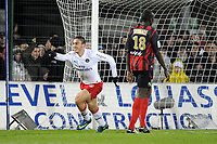 FOOTBALL - FRENCH CHAMPIONSHIP 2009/2010  - L1 - US BOULOGNE v PARIS SAINT GERMAIN  - 2/12/2009 - PHOTO JEAN MARIE HERVIO / DPPI - JOY MEVLUT ERDING (PSG) AFTER HIS GOAL