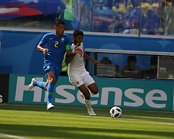 June 22, 2018 - St. Petersburg, Russia - June 22, 2018, Russia, St. Petersburg, FIFA World Cup 2018, First round, Group E, Second round, Brazil - Costa Rica at the St Petersburg stadium. Player of the national team (Credit Image: © Russian Look via ZUMA Wire)