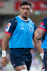 March 1, 2019 - Victoria, VIC, U.S. - MELBOURNE, AUSTRALIA - MARCH 01: Rob Leota (21) of the Melbourne Rebels looks on as he warms up on the pitch at The Super Rugby match between Melbourne Rebels and Highlanders on March 01, 2019 at AAMI Park, VIC. (Photo by Speed Media/Icon Sportswire) (Credit Image: © Speed Media/Icon SMI via ZUMA Press)