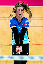 Bjorna Gras of Zwolle in action during the first league match between Djopzz Regio Zwolle Volleybal - Laudame Financials VCN on February 27, 2021 in Zwolle.