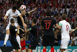 July 11, 2018 - Moscou, Rússia - MOSCOU, MO - 11.07.2018: ENGLAND VS CROATIA - Harry MAGUIRE of England and Domagoj LIFE of Croatia during match between England and Croatia, valid for the semi-finals of the 2018 World Cup held at the Luzhniki Stadium in Moscow, Russia. (Credit Image: © Rodolfo Buhrer/Fotoarena via ZUMA Press)