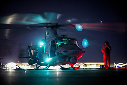 Apr 27, 2017 - Yuma, Arizona, U.S. - Venom Landing. A Marine Corps UH-1Y Venom lands during a weapons and tactics instructor course final exercise at Yuma April 27, 2017. The helicopter is assigned to Marine Aviation Weapons and Tactics Squadron One. Marine Corps photo by Cpl. AaronJames B. Vinculado. (Credit Image: © AaronJames Vinculado/Marines/DoD via ZUMA Wire/ZUMAPRESS.com)