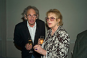 ERIC ABRAHAM AND LADY ANTONIA PINTER, party to celebrate the 100th issue of Granta magazine ( guest edited by William Boyd.) hosted by Sigrid Rausing and Eric Abraham. Twentieth Century Theatre. Westbourne Gro. London.W11  15 January 2008. -DO NOT ARCHIVE-© Copyright Photograph by Dafydd Jones. 248 Clapham Rd. London SW9 0PZ. Tel 0207 820 0771. www.dafjones.com.