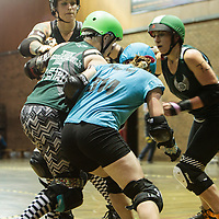 Manchester RollerDerby's Checkerbroads take on Brighton Rockers Roller Derby 2014-11-22