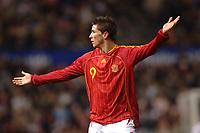 Photo: Paul Greenwood.<br />England v Spain. International Friendly. 07/02/2007. Reaction from Spains Fernando Torres