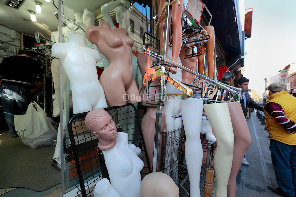 retail store of mannequin parts in Istanbul near the grand Bazaar