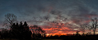 Red Clouds at Dawn. Composite of 11 images taken with a Leica CL camera and 18 mm f/2.8 lens (ISO 100, 18 mm, f/2.8, 1/80 sec). Raw images processed with Capture One Pro and AutoPano Giga Pro.