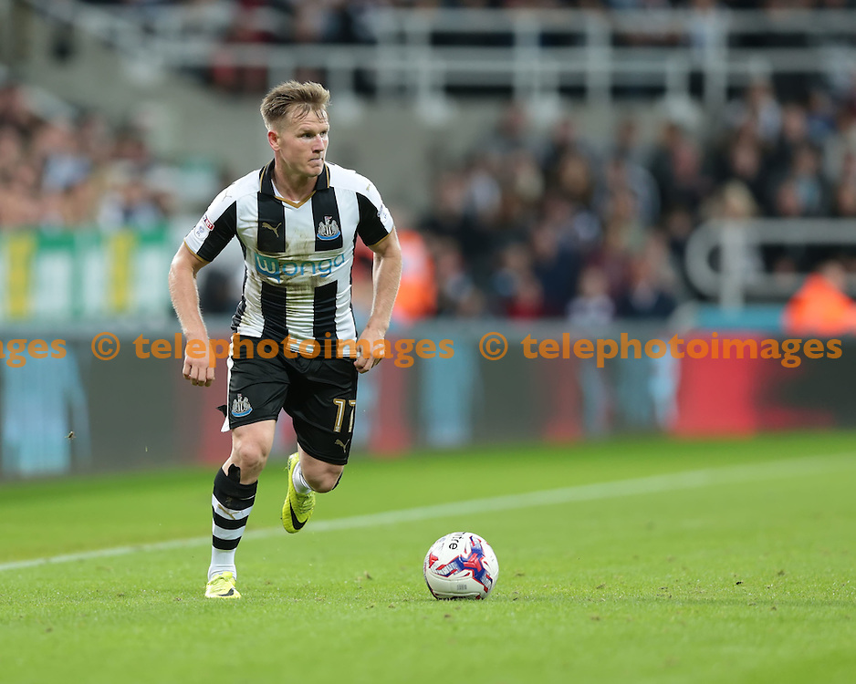 Newcastle United midfielder Matt Ritchie (11) in action during the EFL Cup Third Round match between Newcastle United and Wolverhampton Wanderers at St. James' Park in Newcastle. September 20, 2016.<br /> Nigel Pitts-Drake / Telephoto Images<br /> +44 7967 642437