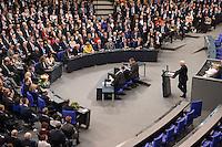 12 FEB 2017, BERLIN/GERMANY:<br /> Frank-Walter Steinmeier (R), neu gewählter Bundespraesident, haelt eine Rede, 16. Bundesversammlung zur Wahl des Bundespraesidenten, Reichstagsgebaeude, Deutscher Bundestag<br /> IMAGE: 20170212-02-142<br /> KEYWORDS; Bundespraesidentenwahl, Bundespräsidetenwahl, Antrittsrede
