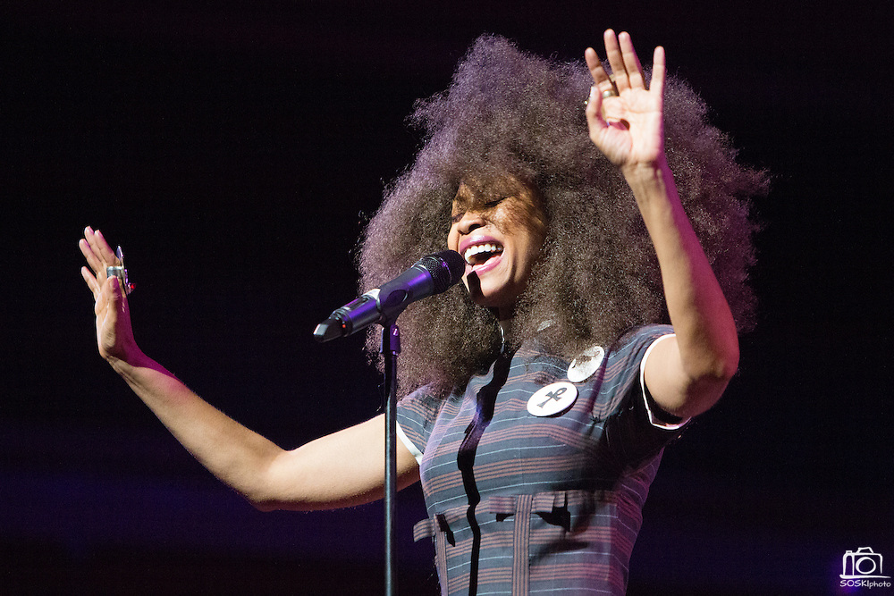 """Erykah Badu performs """"Oh Freedom"""" during the 30th Annual Black Music & the Civil Rights Movement Concert at the Morton H. Meyerson Symphony Center in Dallas, Texas, on January 20, 2013.  (Stan Olszewski/The Dallas Morning News)"""