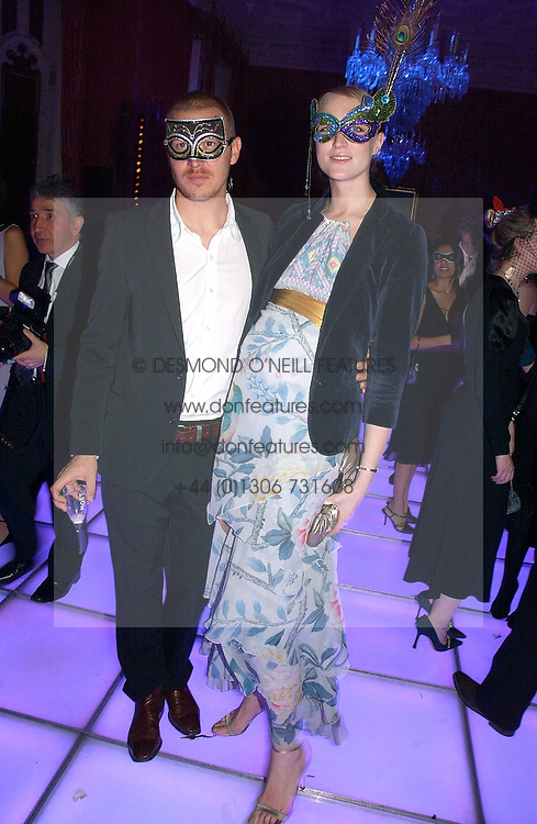 Model  JADE PARFITT and TOBY BURGESS at the 2006 Moet & Chandon Fashion Tribute in honour of photographer Nick Knight, held at Strawberry Hill House, Twickenham, Middlesex on 24th October 2006.<br /><br />NON EXCLUSIVE - WORLD RIGHTS