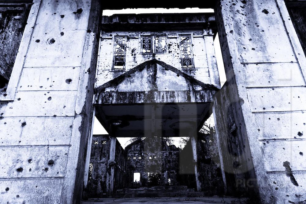 Ruins of Long Hung Church, Quang Tri Province, Vietnam, Southeast Asia
