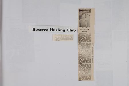 Paul Delaney, Hurling Roscrea Minor Captain,