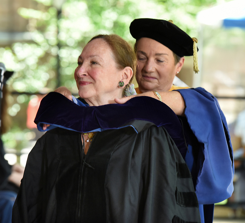 May 23, 2016 New Haven<br /> The Yale Law School during commencement exercises. Supreme Court of Canada justice Rosalie Silberman Abella receiving her honorary doctorate.
