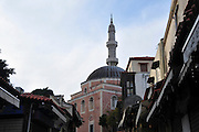 Greece, Rhodes, Rhodes City, The old town of Rhodes, Sokratous street The mosque of Suleyman