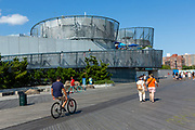The New York Aquarium on the Coney Island boardwalk.