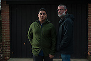 COLUMBIA, MD -- 12/20/14 -- Mark Johnson-Lewis, 48, and his son, Tyler Lewis, 22, talk about the complexity of being a biracial family..…by André Chung #_AC23131