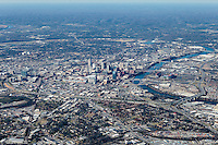 Aerial photo of the Nashville Tennessee Skyline.