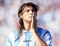 Fotball<br /> VM 1994<br /> Foto: Colorsport/Digitalsport<br /> NORWAY ONLY<br /> <br /> Claudio Caniggia - Argentina. Argentina v Bulgaria. The World Cup Finals USA. Group Phase, Dallas 30/6/94