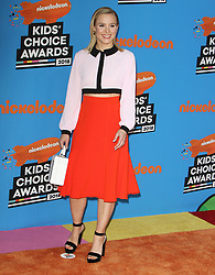 The 31st Annual Nickelodeon Kids' Choice Awards at The Forum in Inglewood, California on 3/24/18. 24 Mar 2018 Pictured: Kristen Bell. Photo credit: River / MEGA TheMegaAgency.com +1 888 505 6342