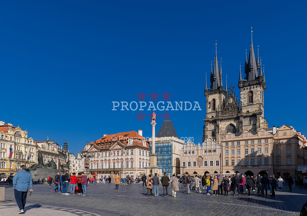 PRAGUE, CZECH REPUBLIC - Friday, October 8, 2021: The Church of Our Lady before Týn in the Old Town Square, Prague. (Pic by David Rawcliffe/Propaganda)