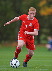 WREXHAM, WALES - Wednesday, October 30, 2019: Wales' Aaron Bennett during the 2019 Victory Shield match between Wales and Republic of Ireland at Colliers Park. (Pic by David Rawcliffe/Propaganda)