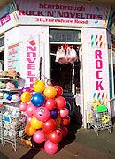 Rock and novelty shop, Scarborough, Yorkshire, England