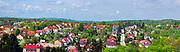 Panorama Nowego Wiśnicza widok z zamku.