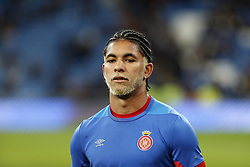 January 24, 2019 - Madrid, Madrid, Spain - Douglas Luiz (Girona FC) seen warming up before the Copa del Rey Round of quarter-final first leg match between Real Madrid CF and Girona FC at the Santiago Bernabeu Stadium in Madrid, Spain. (Credit Image: © Manu Reino/SOPA Images via ZUMA Wire)
