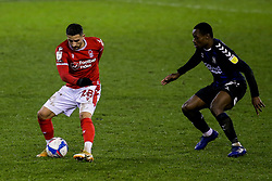 Anthony Knockaert of Nottingham Forest takes on Marc Bola of Middlesbrough - Mandatory by-line: Robbie Stephenson/JMP - 20/01/2021 - FOOTBALL - City Ground - Nottingham, England - Nottingham Forest v Middlesbrough - Sky Bet Championship