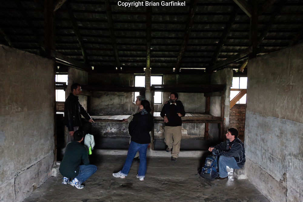 Inside a barack in Auschwitz-Birkenau Concentration Camp in Poland on Tuesday July 5th 2011.  (Photo by Brian Garfinkel)