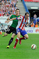 Atletico de Madrid´s Diego Godin and Athletic Club´s Guillermo Fernandez during 2014-15 La Liga match between Atletico de Madrid and Athletic Club at Vicente Calderon stadium in Madrid, Spain. May 02, 2015. (ALTERPHOTOS/Luis Fernandez)