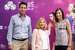 PORTOROZ, SLOVENIA - SEPTEMBER 19:  Gregor Krusic, Mima Jausovec and Katarina Srebotnik during the WTA 250 Zavarovalnica Sava Portoroz at SRC Marina, on September 19, 2021 in Portoroz / Portorose, Slovenia. Photo by Vid Ponikvar / Sportida