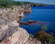 Rocky shore of Lake Superior north of Shovel Point, Tettegouche State Park, Minnesota.