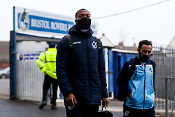 Bristol Rovers players arrive at the stadium - Rogan/JMP - 30/11/2020 - FOOTBALL - Memorial Stadium - Bristol, England - Bristol Rovers v Darlington - FA Cup Second Round Proper.