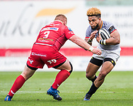 Southern Kings' Berton Klaasen ® in action during todays match.<br /> Guinness Pro14 rugby match, Scarlets v Southern Kings at the Parc y Scarlets in Llanelli, Carms, Wales on Saturday 2nd September 2017.<br /> pic by Craig Thomas, Andrew Orchard sports photography.