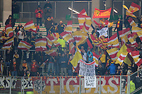 Supporters Lens  - 06.02.2015 - Saint Etienne / Lens - 24eme journee de Ligue 1 -<br /> Photo : Jean Paul Thomas / Icon Sport