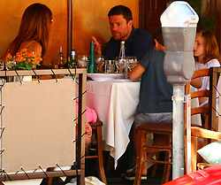 EXCLUSIVE: Former Real Madrid midfielder Xabi Alonso seen on vacation with family in Los Angeles. ***SPECIAL INSTRUCTIONS*** Please pixelate children's faces before publication.***. 25 Jul 2017 Pictured: Xabi Alonso. Photo credit: KAT / MEGA TheMegaAgency.com +1 888 505 6342