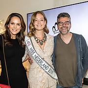 """NLD/Amsterdam/20190630 - Finale Miss Nederland 2019 """"Op jacht naar de kroon"""",  EliZe, winnares Sharon Pieksma en William Rutten"""