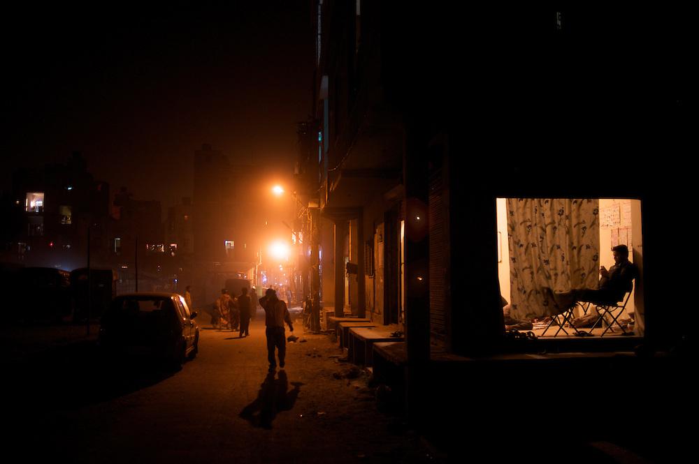 Entering the neighborhood of Madanpur Khadar in Delhi, India.