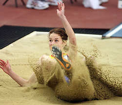 Romanian long jump athlete Alina Militaru  in the Qualification at the 1st day of  European Athletics Indoor Championships Torino 2009 (6th - 8th March), at Oval Lingotto Stadium,  Torino, Italy, on March 6, 2009. (Photo by Vid Ponikvar / Sportida)