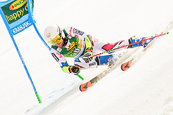 March 9, 2019 - Kranjska Gora, Kranjska Gora, Slovenia - Thibaut Favrot of France in action during Audi FIS Ski World Cup Vitranc on March 8, 2019 in Kranjska Gora, Slovenia. (Credit Image: © Rok Rakun/Pacific Press via ZUMA Wire)