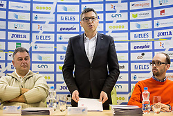 Vladimir Kevo, Roman Dobnikar and Luka Steiner during press conference when Slovenian athletes and their coaches sign contracts with Athletic federation of Slovenia for year 2016, on February 25, 2016 in AZS, Ljubljana, Slovenia. Photo by Vid Ponikvar / Sportida