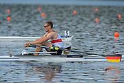 Hamburg. GERMANY. Men's Single Sculls Gold medalist. GER JM1X. Tim Ole NASKE at the 2014 FISA Junior World rowing. Championships. [Mandatory Credit; Peter Spurrier/Intersport-images]